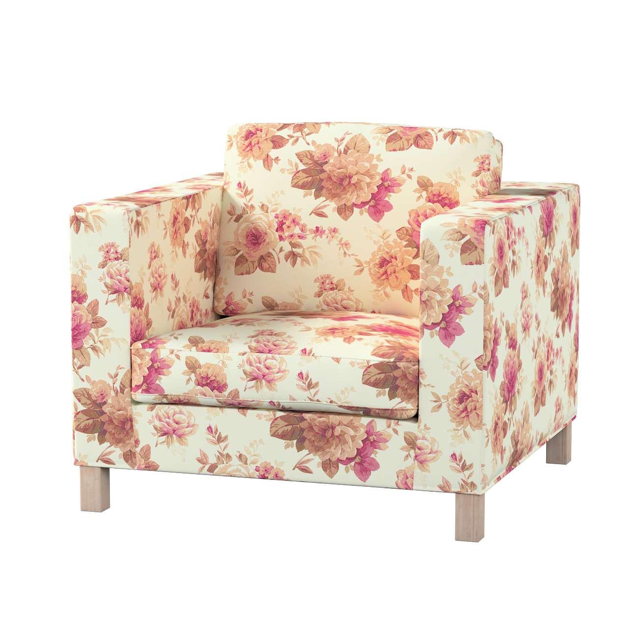 Pokrowiec na fotel Karlanda, krótki fotel Karlanda w kolekcji Mirella, tkanina: 141-06