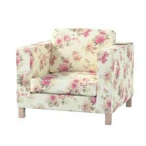 Pokrowiec na fotel Karlanda, krótki fotel Karlanda w kolekcji Mirella, tkanina: 141-07