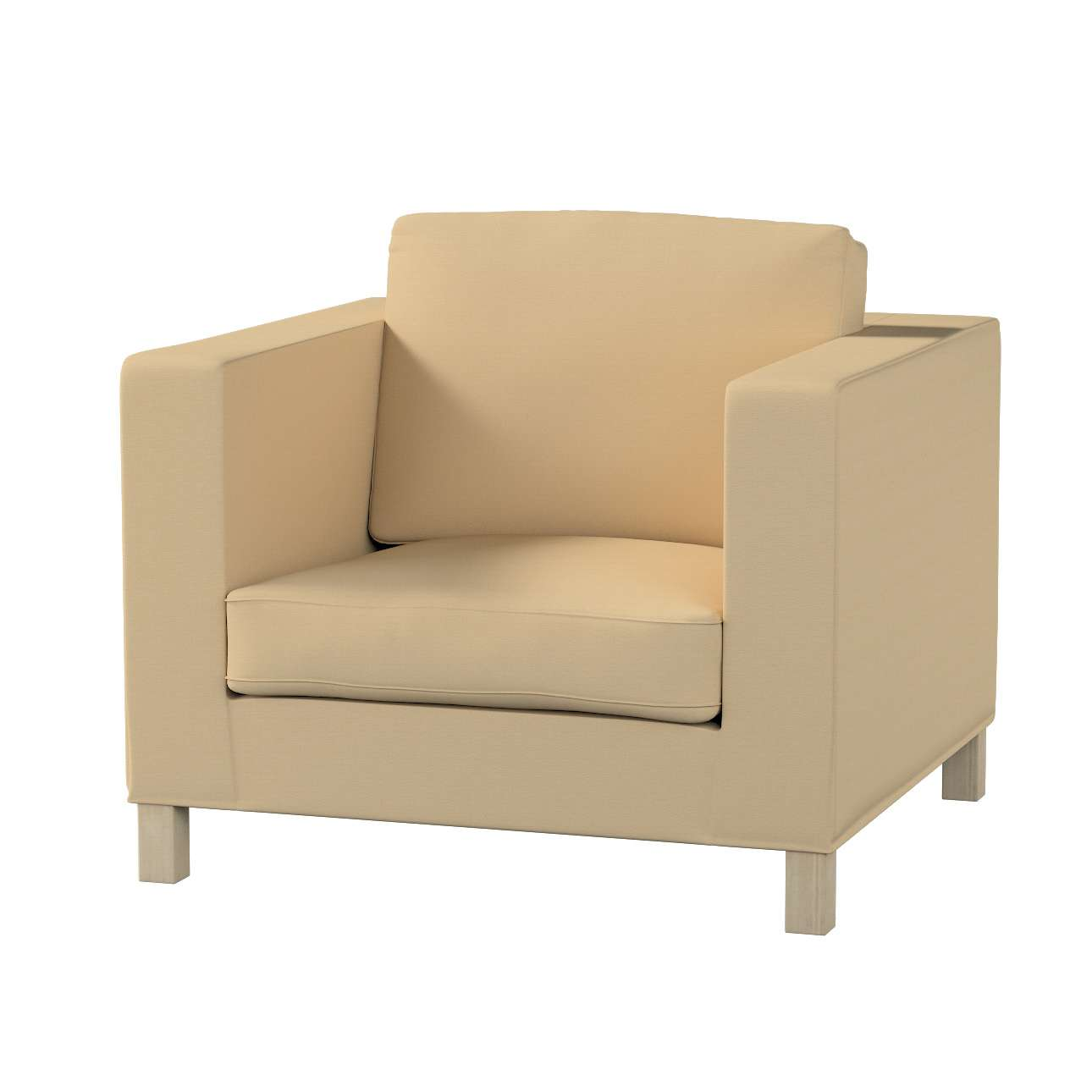 Potah na křesko IKEA Karlanda, krátký v kolekci Cotton Panama, látka: 702-01