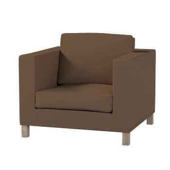 Pokrowiec na fotel Karlanda, krótki fotel Karlanda w kolekcji Cotton Panama, tkanina: 702-02