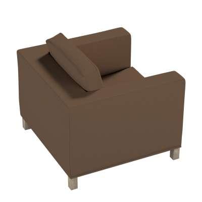 Pokrowiec na fotel Karlanda, krótki w kolekcji Cotton Panama, tkanina: 702-02