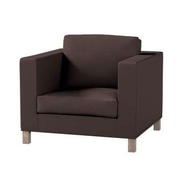Pokrowiec na fotel Karlanda, krótki fotel Karlanda w kolekcji Cotton Panama, tkanina: 702-03