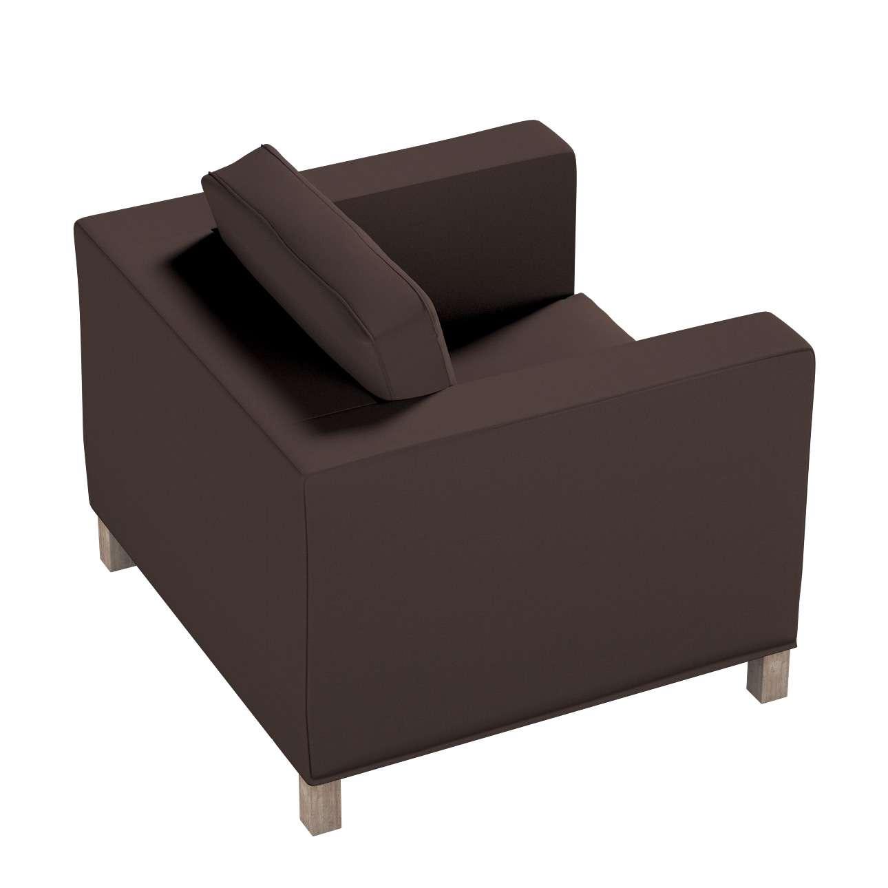 Pokrowiec na fotel Karlanda, krótki w kolekcji Cotton Panama, tkanina: 702-03