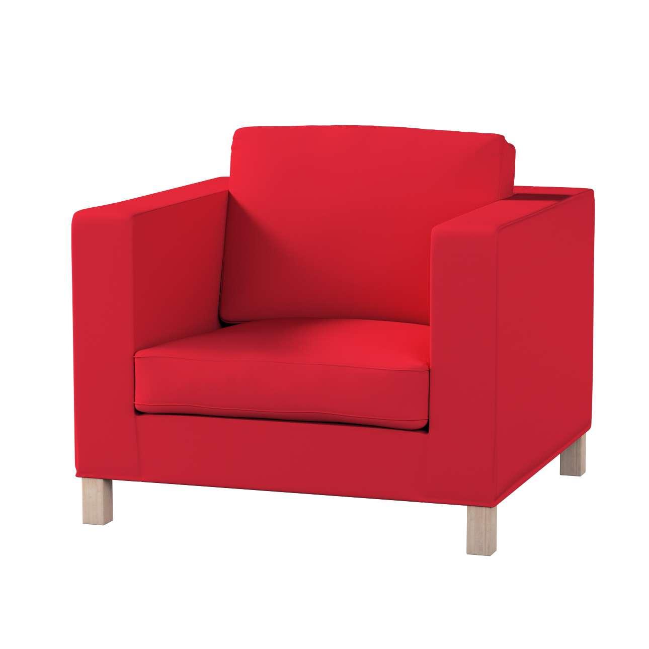 Pokrowiec na fotel Karlanda, krótki fotel Karlanda w kolekcji Cotton Panama, tkanina: 702-04