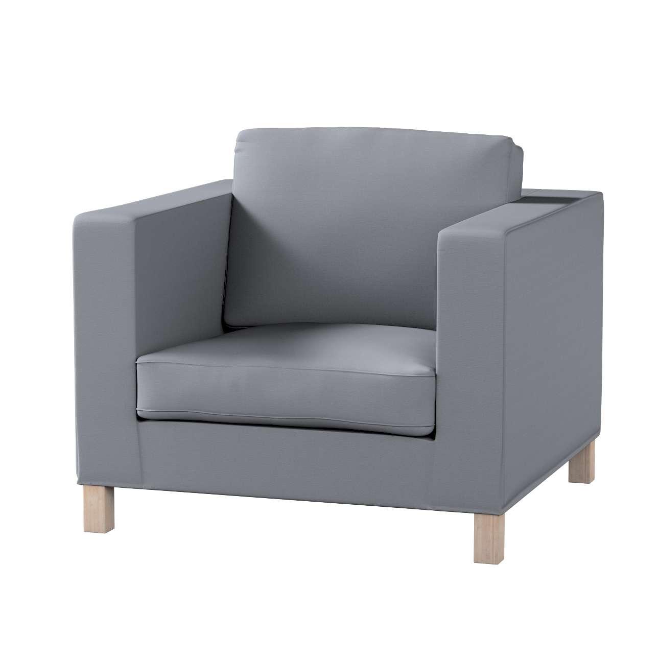 Pokrowiec na fotel Karlanda, krótki fotel Karlanda w kolekcji Cotton Panama, tkanina: 702-07