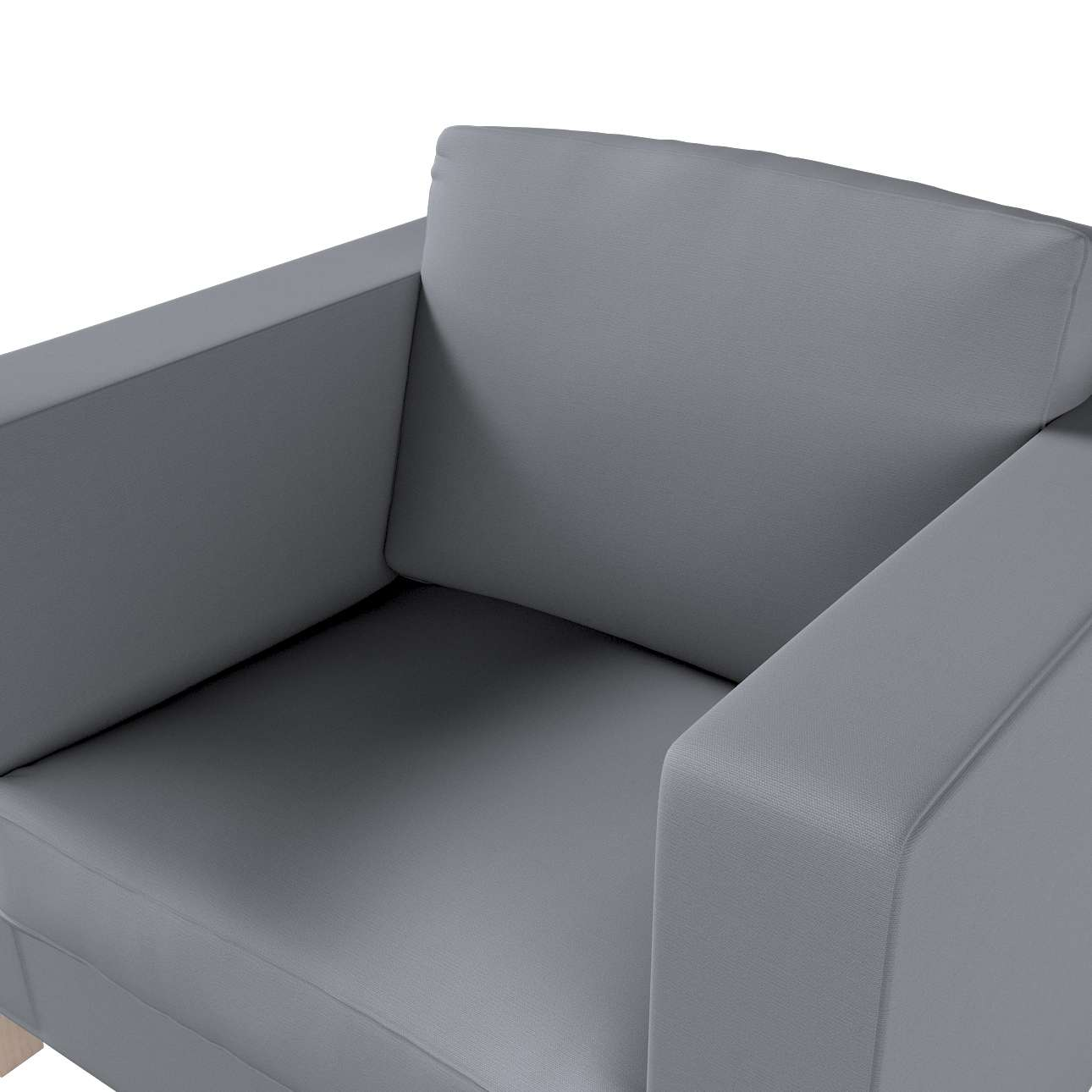 Pokrowiec na fotel Karlanda, krótki w kolekcji Cotton Panama, tkanina: 702-07