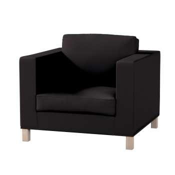 Pokrowiec na fotel Karlanda, krótki fotel Karlanda w kolekcji Cotton Panama, tkanina: 702-08
