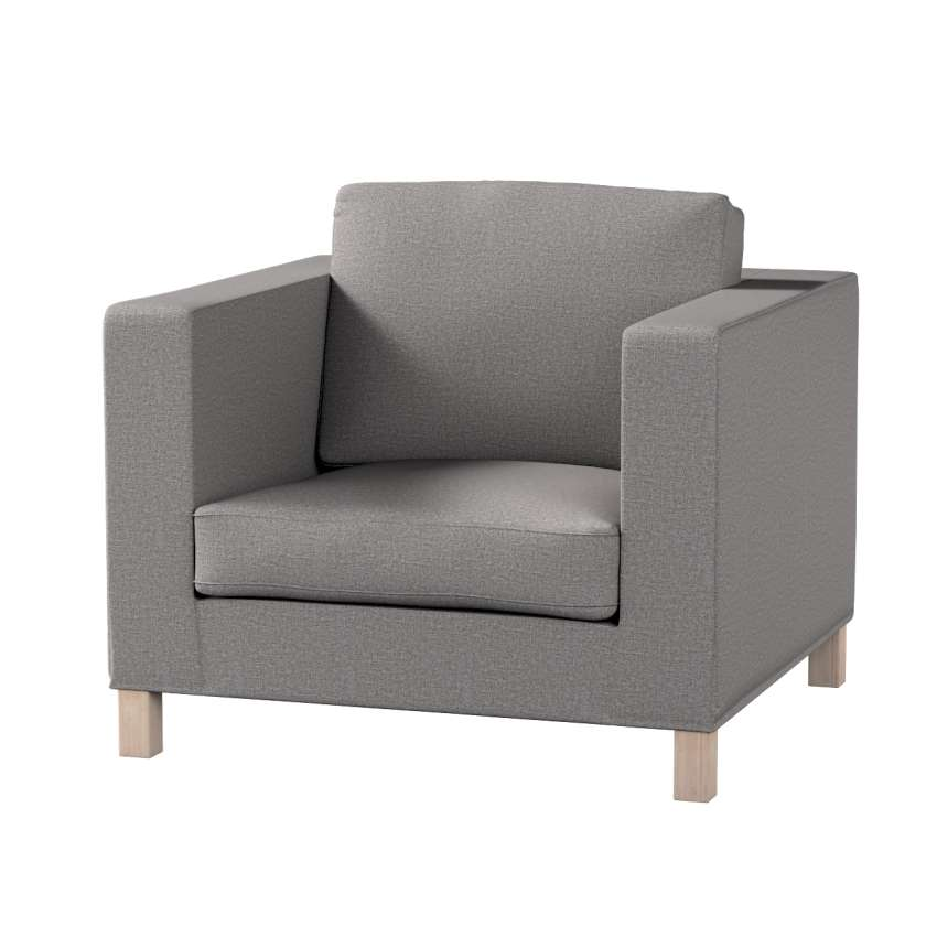 karlanda sesselbezug kurz grau dekoria. Black Bedroom Furniture Sets. Home Design Ideas