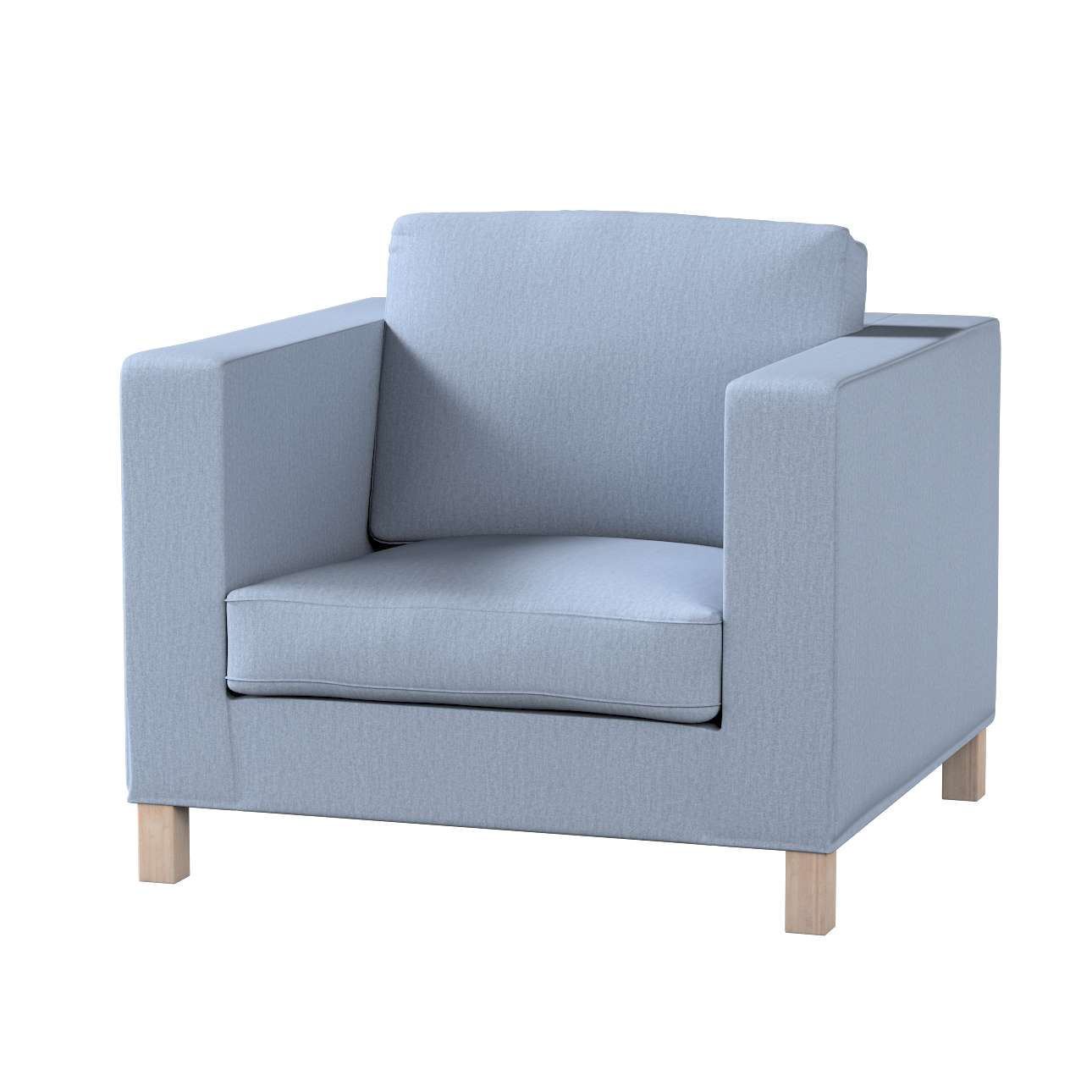 Pokrowiec na fotel Karlanda, krótki fotel Karlanda w kolekcji Chenille, tkanina: 702-13