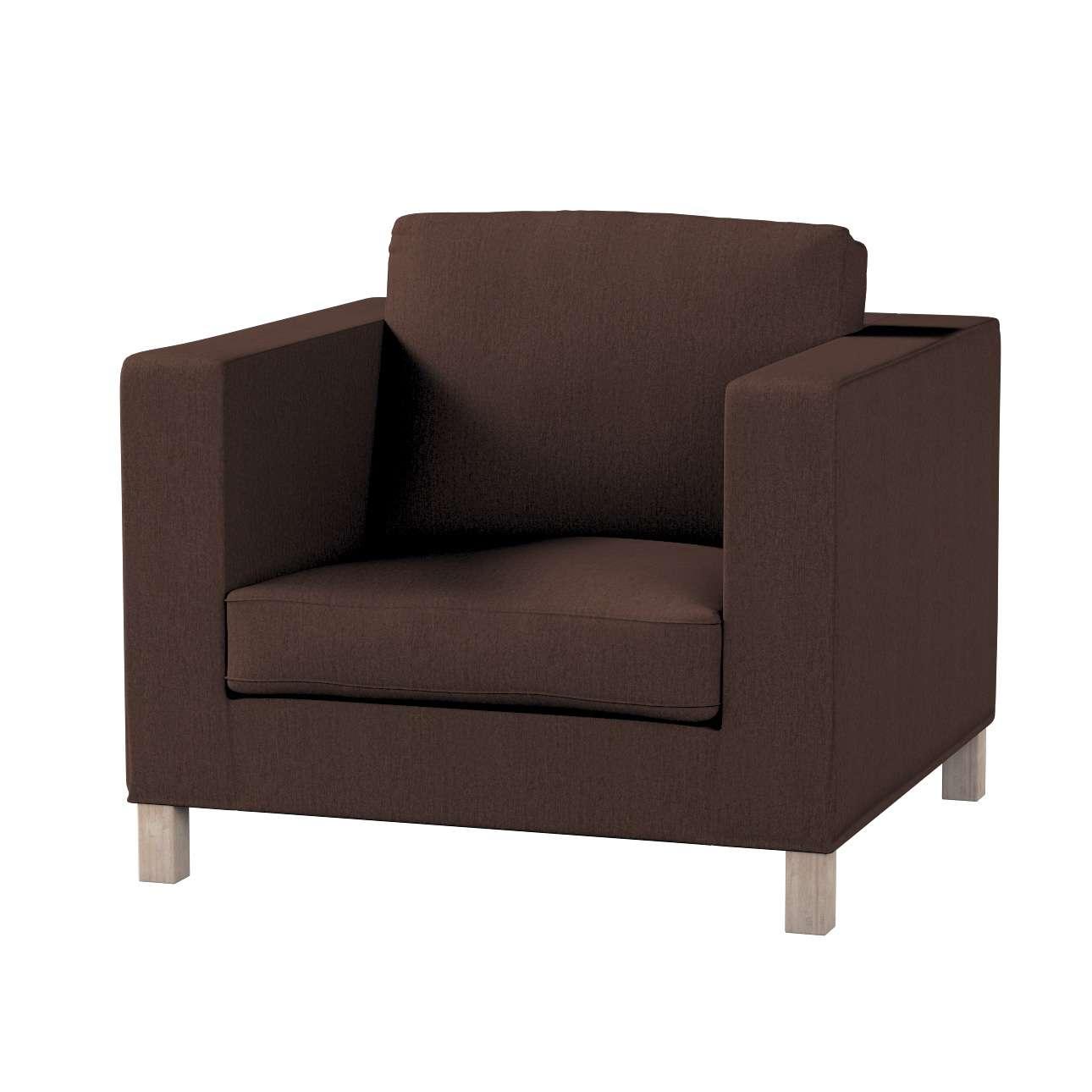 Pokrowiec na fotel Karlanda, krótki fotel Karlanda w kolekcji Chenille, tkanina: 702-18