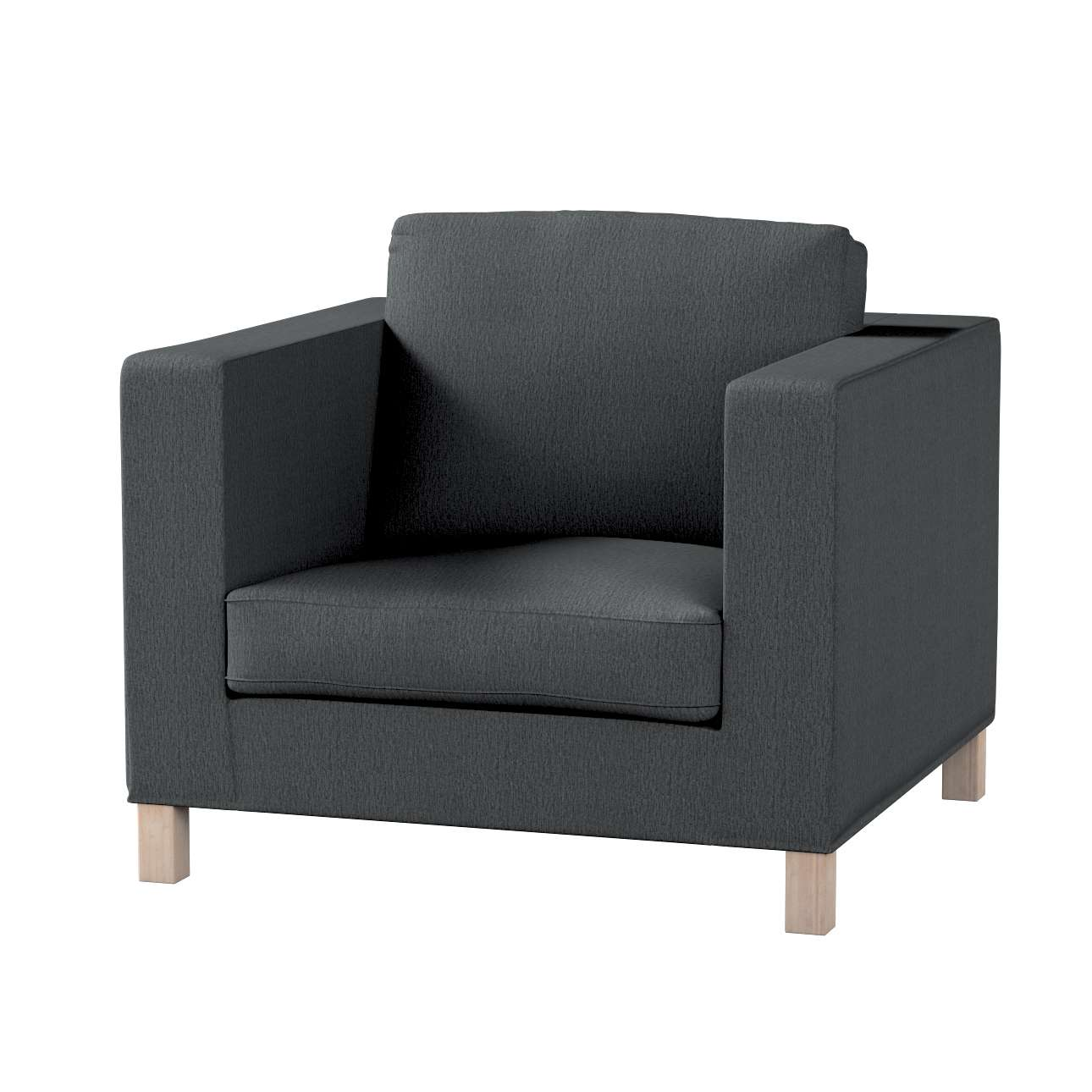 Pokrowiec na fotel Karlanda, krótki fotel Karlanda w kolekcji Chenille, tkanina: 702-20