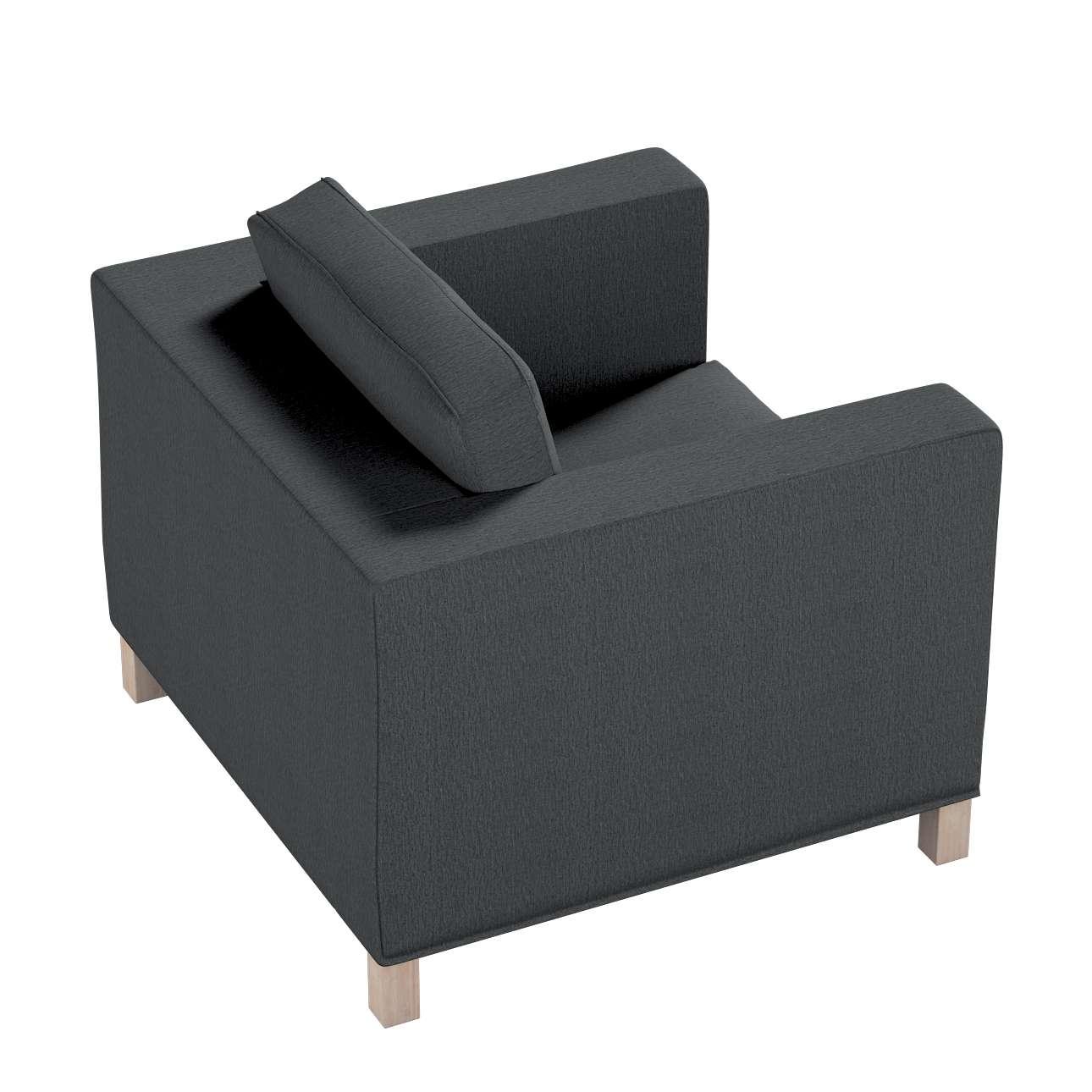 Pokrowiec na fotel Karlanda, krótki w kolekcji Chenille, tkanina: 702-20