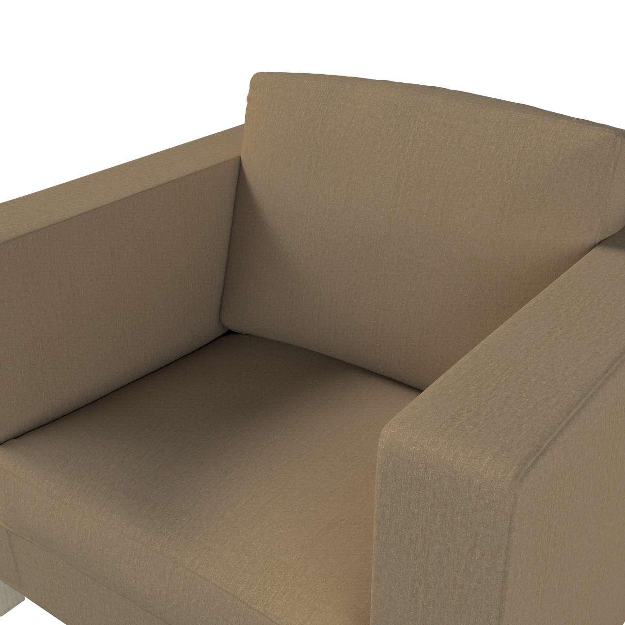 Pokrowiec na fotel Karlanda, krótki w kolekcji Chenille, tkanina: 702-21
