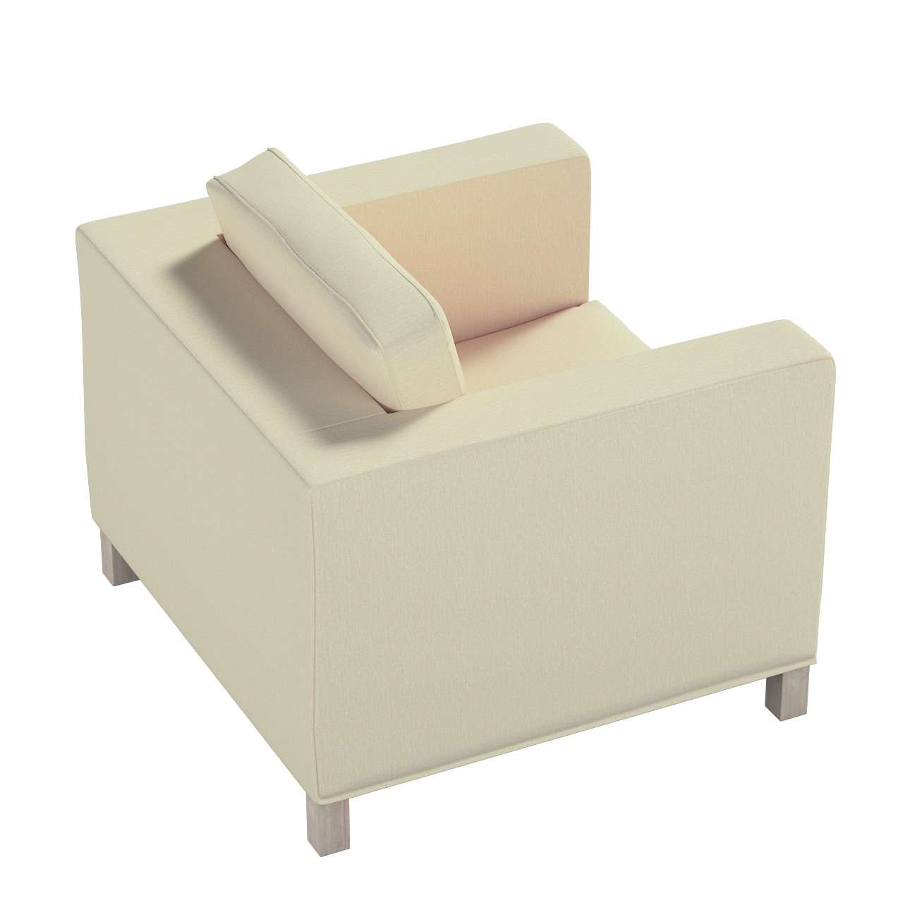 Pokrowiec na fotel Karlanda, krótki w kolekcji Chenille, tkanina: 702-22