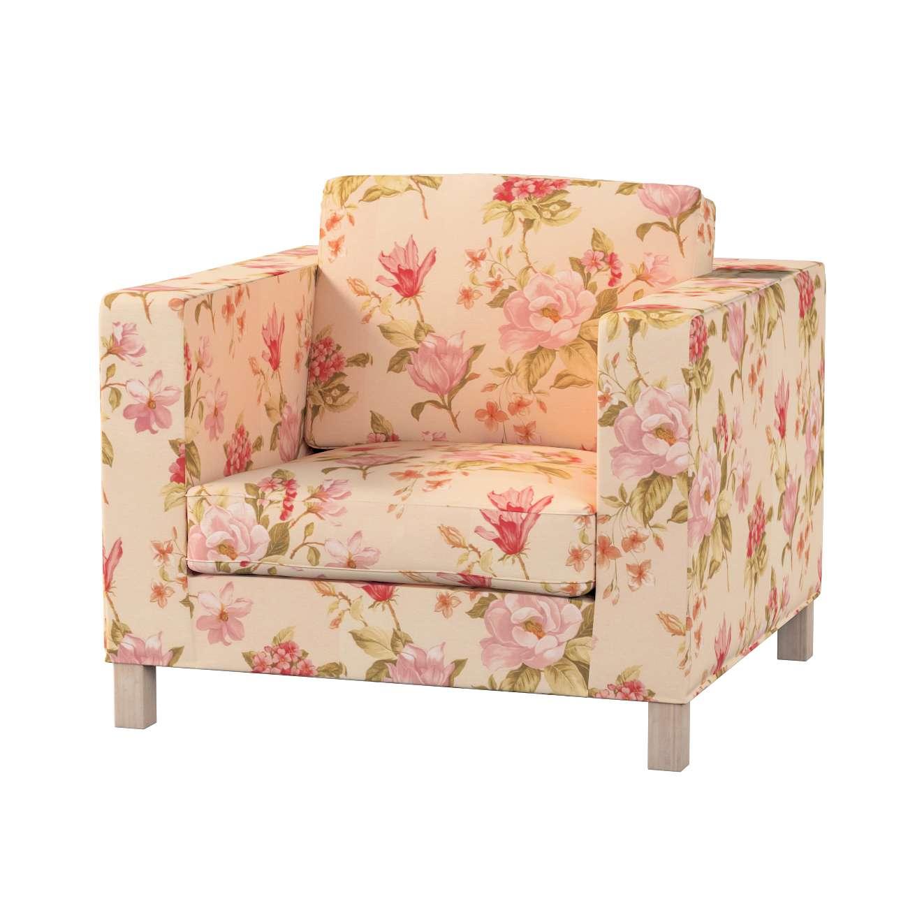 Pokrowiec na fotel Karlanda, krótki fotel Karlanda w kolekcji Londres, tkanina: 123-05