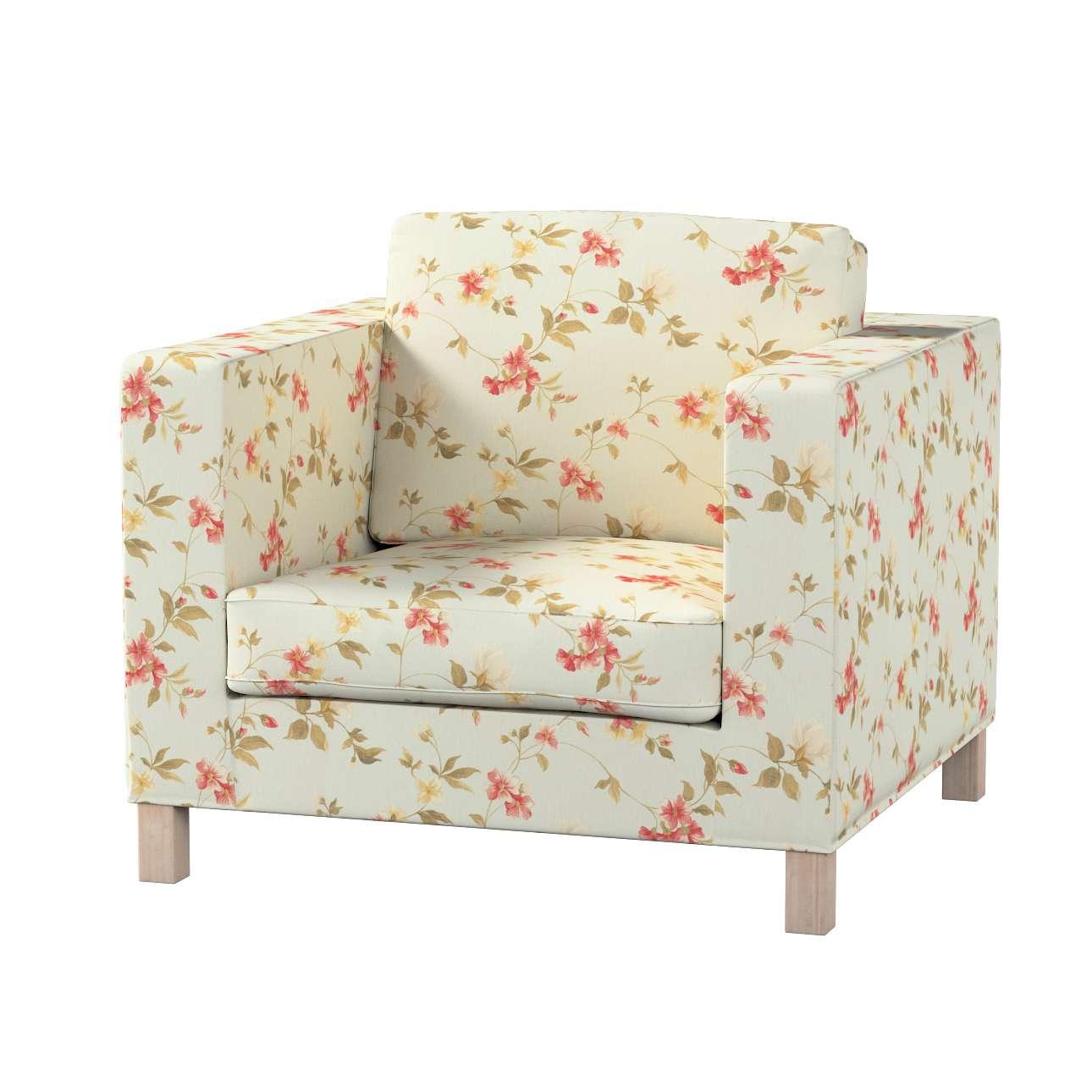 Pokrowiec na fotel Karlanda, krótki fotel Karlanda w kolekcji Londres, tkanina: 124-65