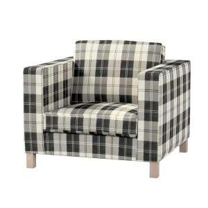 Pokrowiec na fotel Karlanda, krótki fotel Karlanda w kolekcji Edinburgh, tkanina: 115-74