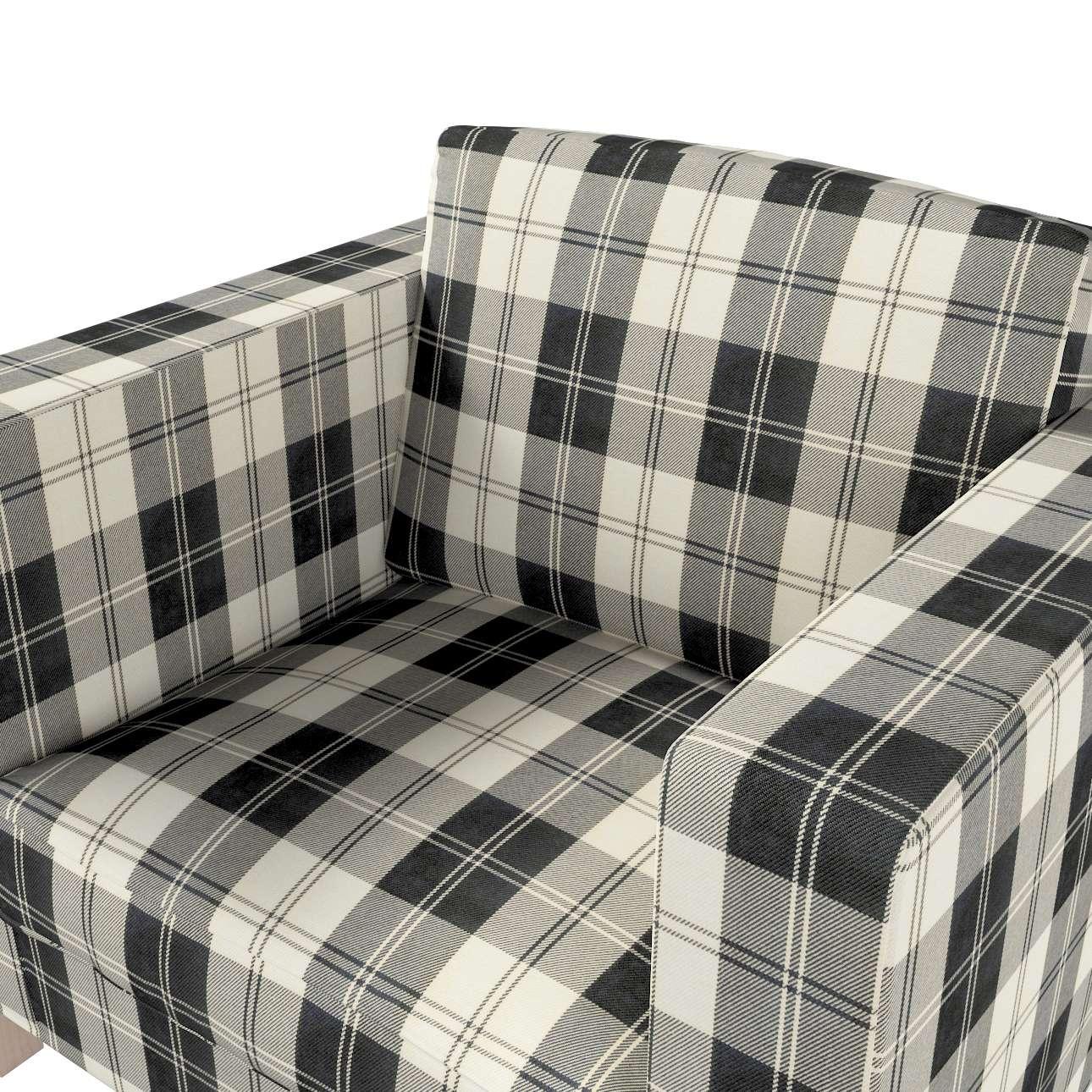 Pokrowiec na fotel Karlanda, krótki w kolekcji Edinburgh, tkanina: 115-74