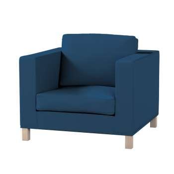 Pokrowiec na fotel Karlanda, krótki fotel Karlanda w kolekcji Cotton Panama, tkanina: 702-30
