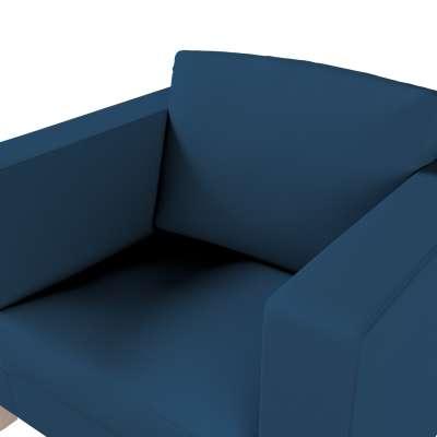 Pokrowiec na fotel Karlanda, krótki w kolekcji Cotton Panama, tkanina: 702-30