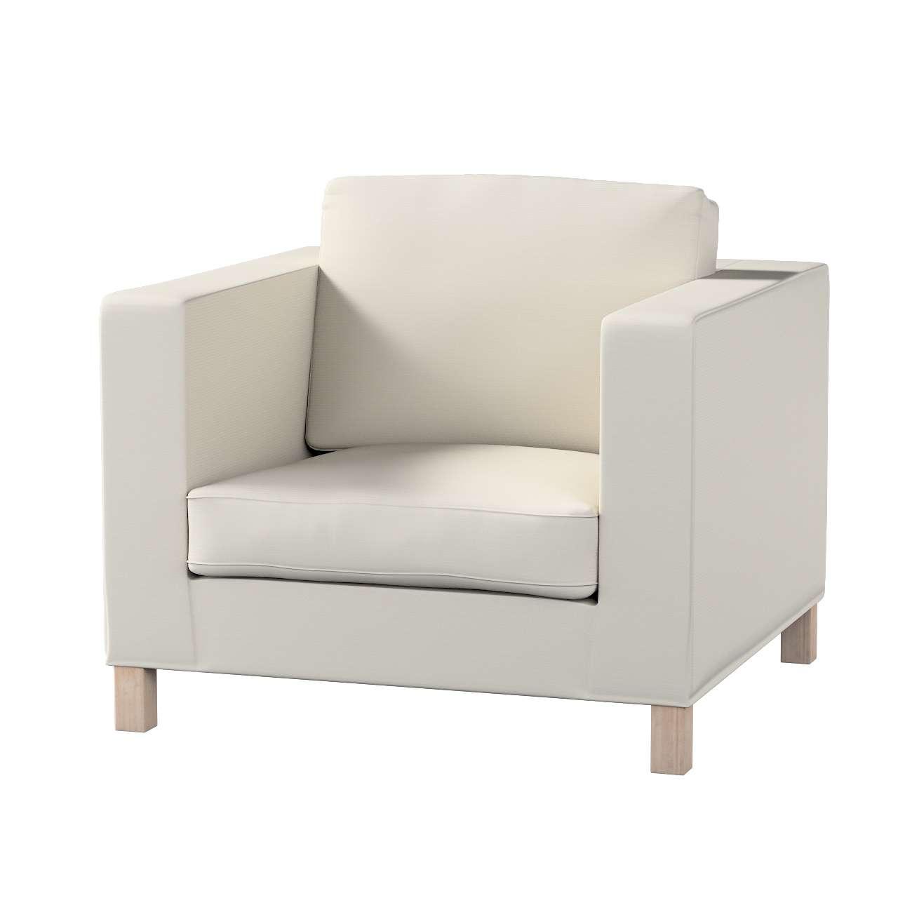 Pokrowiec na fotel Karlanda, krótki fotel Karlanda w kolekcji Cotton Panama, tkanina: 702-31