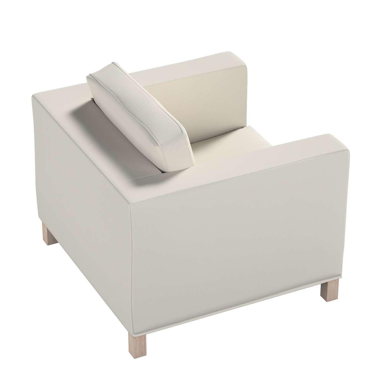 Pokrowiec na fotel Karlanda, krótki w kolekcji Cotton Panama, tkanina: 702-31
