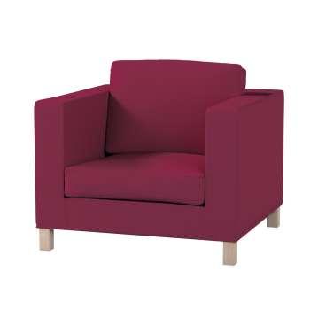 Pokrowiec na fotel Karlanda, krótki fotel Karlanda w kolekcji Cotton Panama, tkanina: 702-32