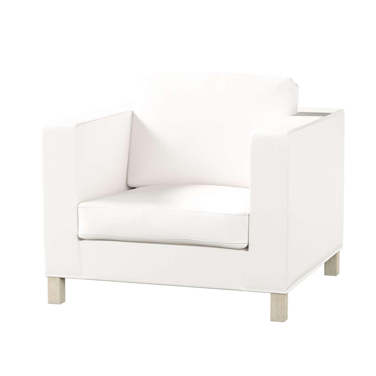 Pokrowiec na fotel Karlanda, krótki fotel Karlanda w kolekcji Cotton Panama, tkanina: 702-34