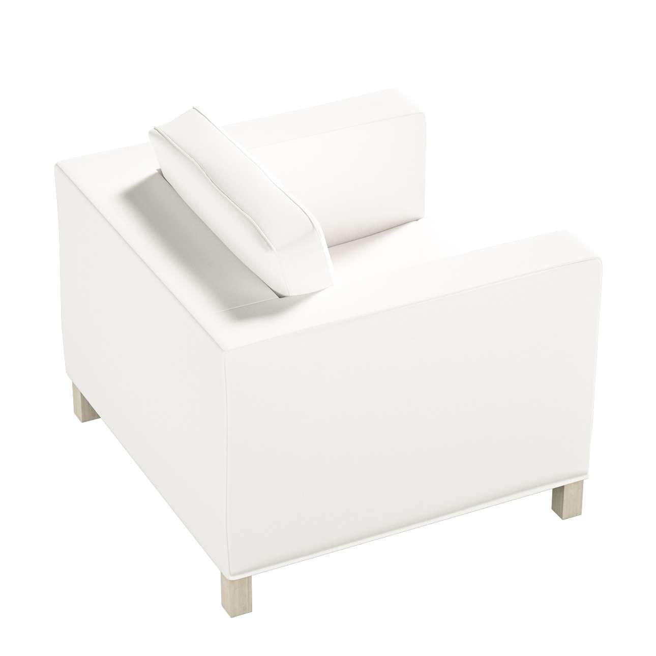 Pokrowiec na fotel Karlanda, krótki w kolekcji Cotton Panama, tkanina: 702-34