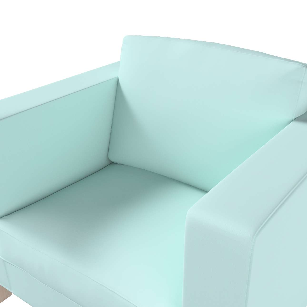 Pokrowiec na fotel Karlanda, krótki w kolekcji Cotton Panama, tkanina: 702-10
