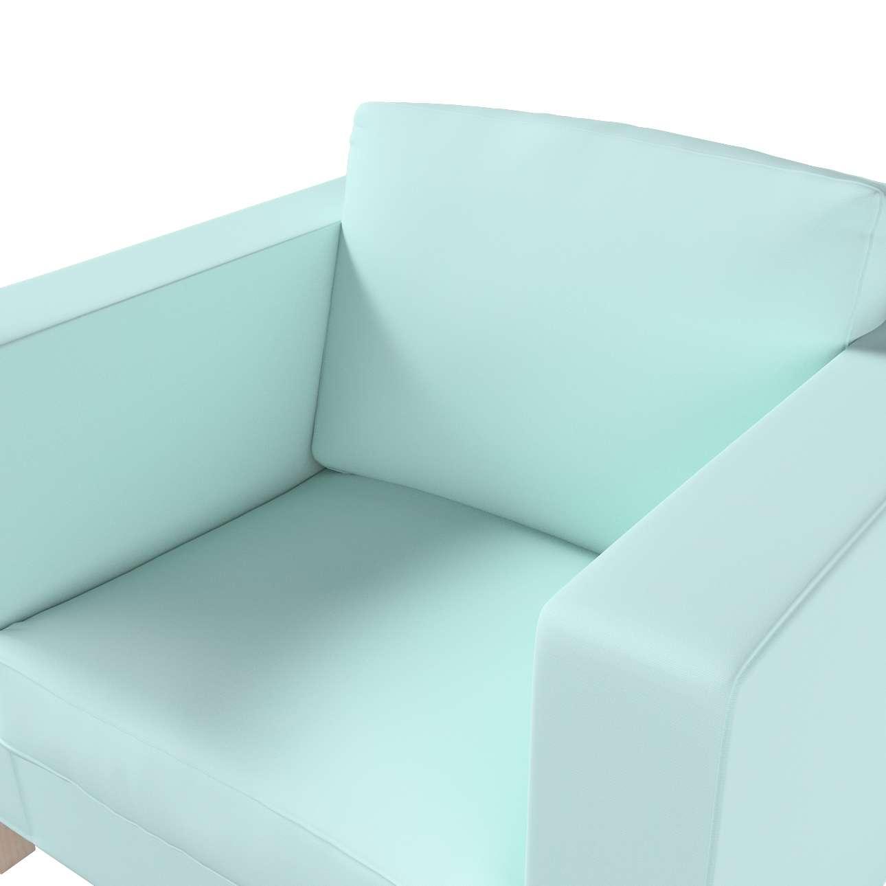 Potah na křesko IKEA Karlanda, krátký v kolekci Cotton Panama, látka: 702-10