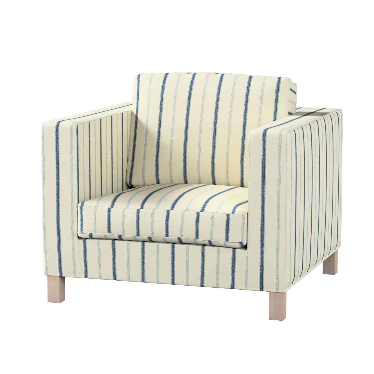 Pokrowiec na fotel Karlanda, krótki fotel Karlanda w kolekcji Avinon, tkanina: 129-66