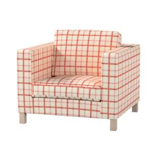 Pokrowiec na fotel Karlanda, krótki fotel Karlanda w kolekcji Avinon, tkanina: 131-15