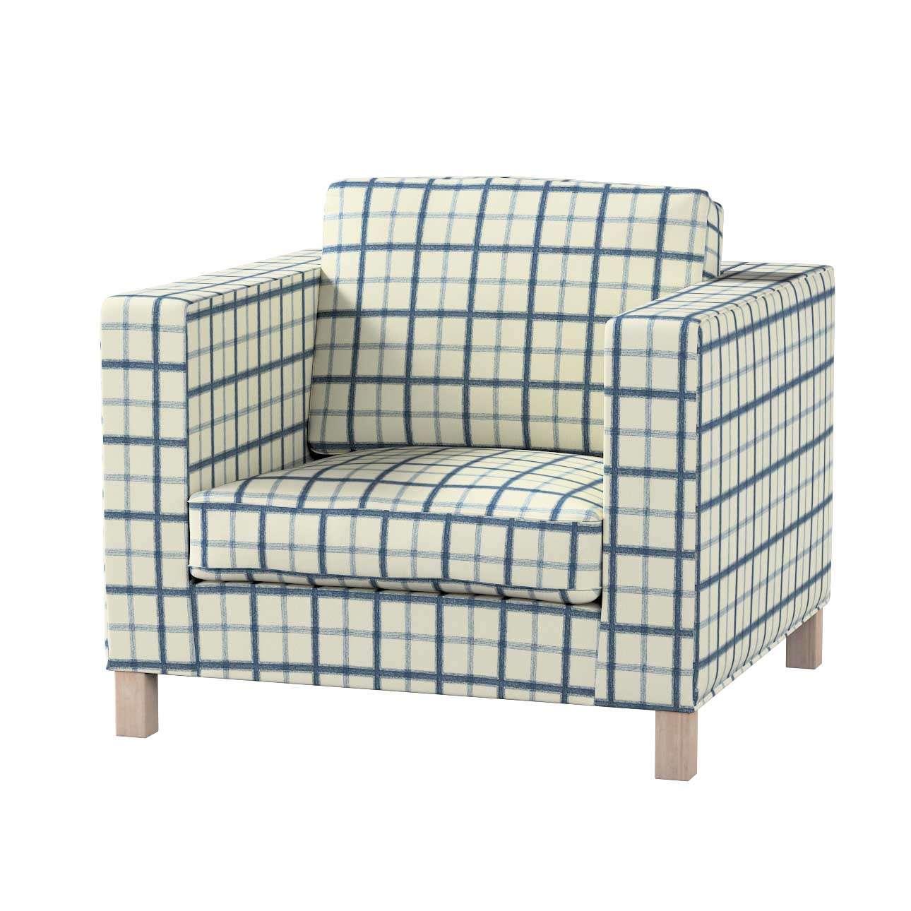 Pokrowiec na fotel Karlanda, krótki fotel Karlanda w kolekcji Avinon, tkanina: 131-66
