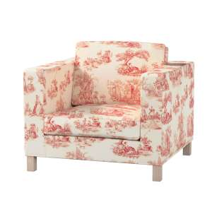 Pokrowiec na fotel Karlanda, krótki fotel Karlanda w kolekcji Avinon, tkanina: 132-15