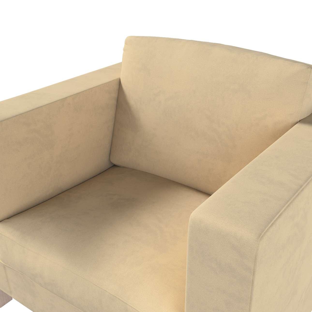 Pokrowiec na fotel Karlanda, krótki w kolekcji Living II, tkanina: 160-82