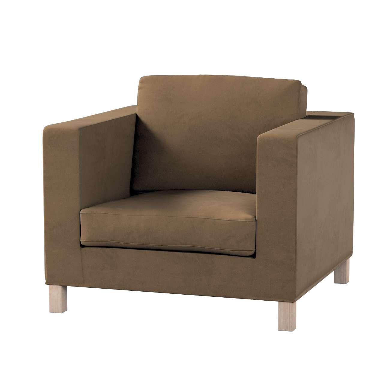 Pokrowiec na fotel Karlanda, krótki w kolekcji Living, tkanina: 160-94