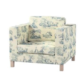 Pokrowiec na fotel Karlanda, krótki fotel Karlanda w kolekcji Avinon, tkanina: 132-66