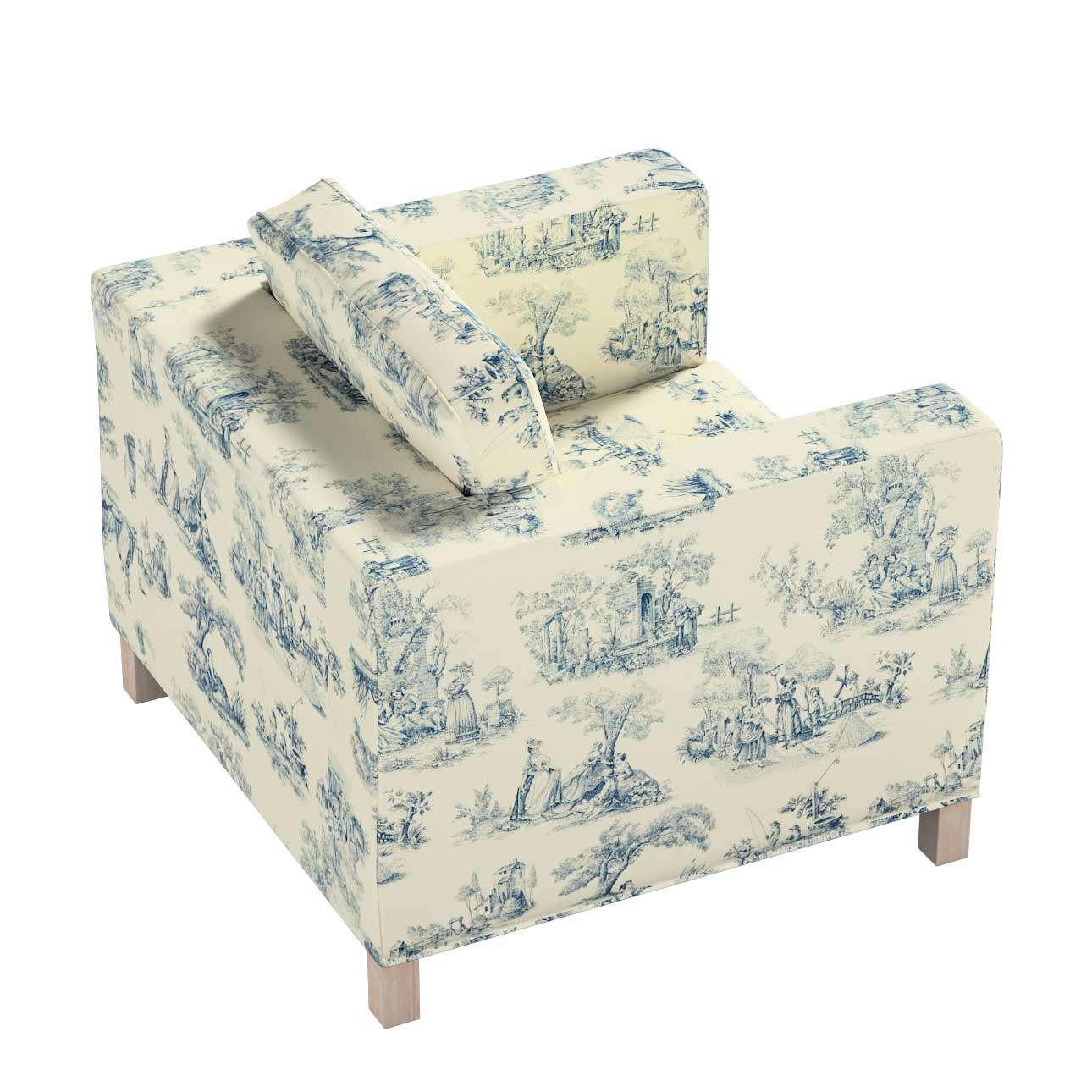 Pokrowiec na fotel Karlanda, krótki w kolekcji Avinon, tkanina: 132-66