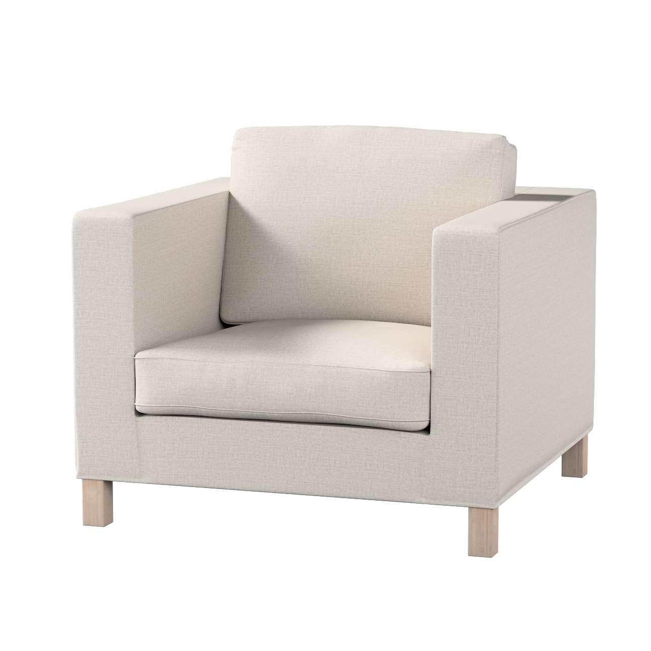 Pokrowiec na fotel Karlanda, krótki w kolekcji Living, tkanina: 161-00