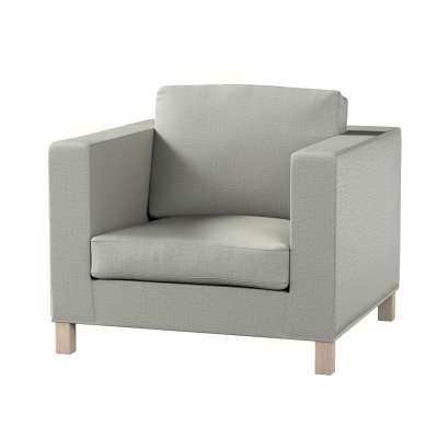 Pokrowiec na fotel Karlanda, krótki 161-83 jasno szara jodełka Kolekcja Bergen