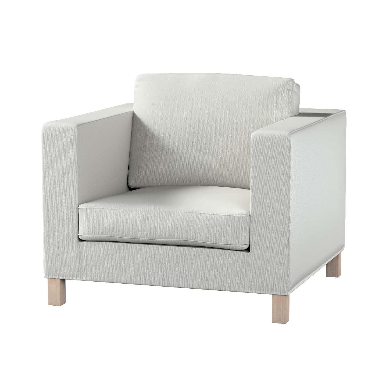 Pokrowiec na fotel Karlanda, krótki w kolekcji Bergen, tkanina: 161-84