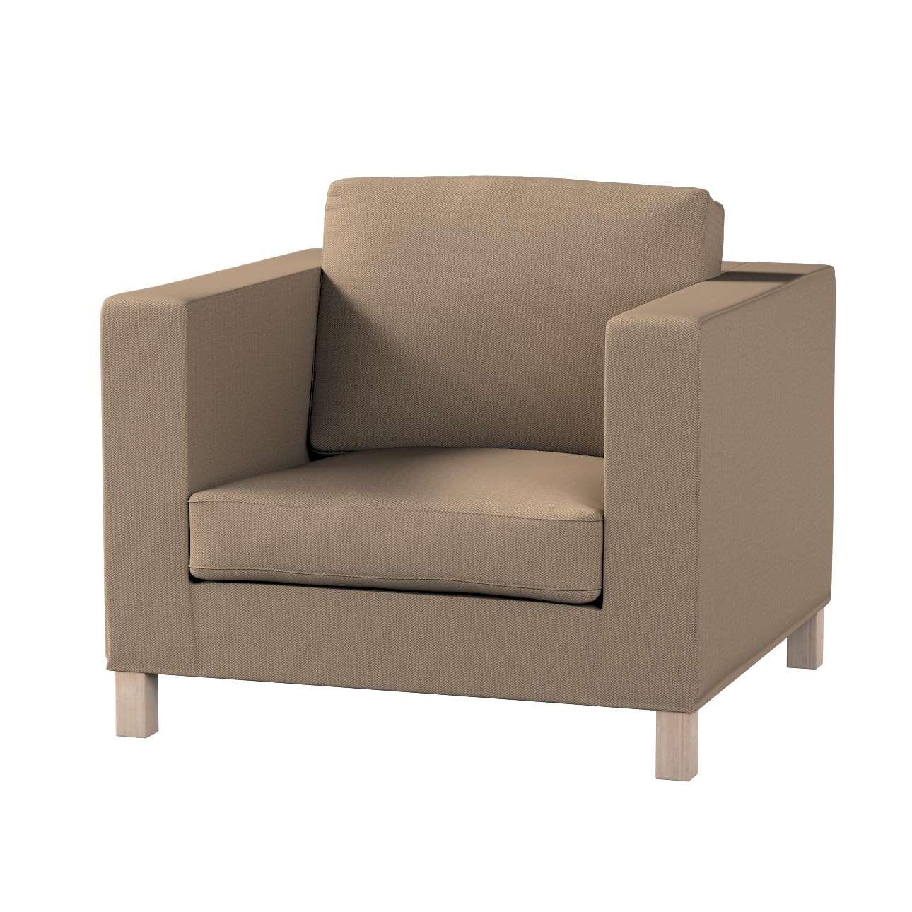 Pokrowiec na fotel Karlanda, krótki w kolekcji Bergen, tkanina: 161-85