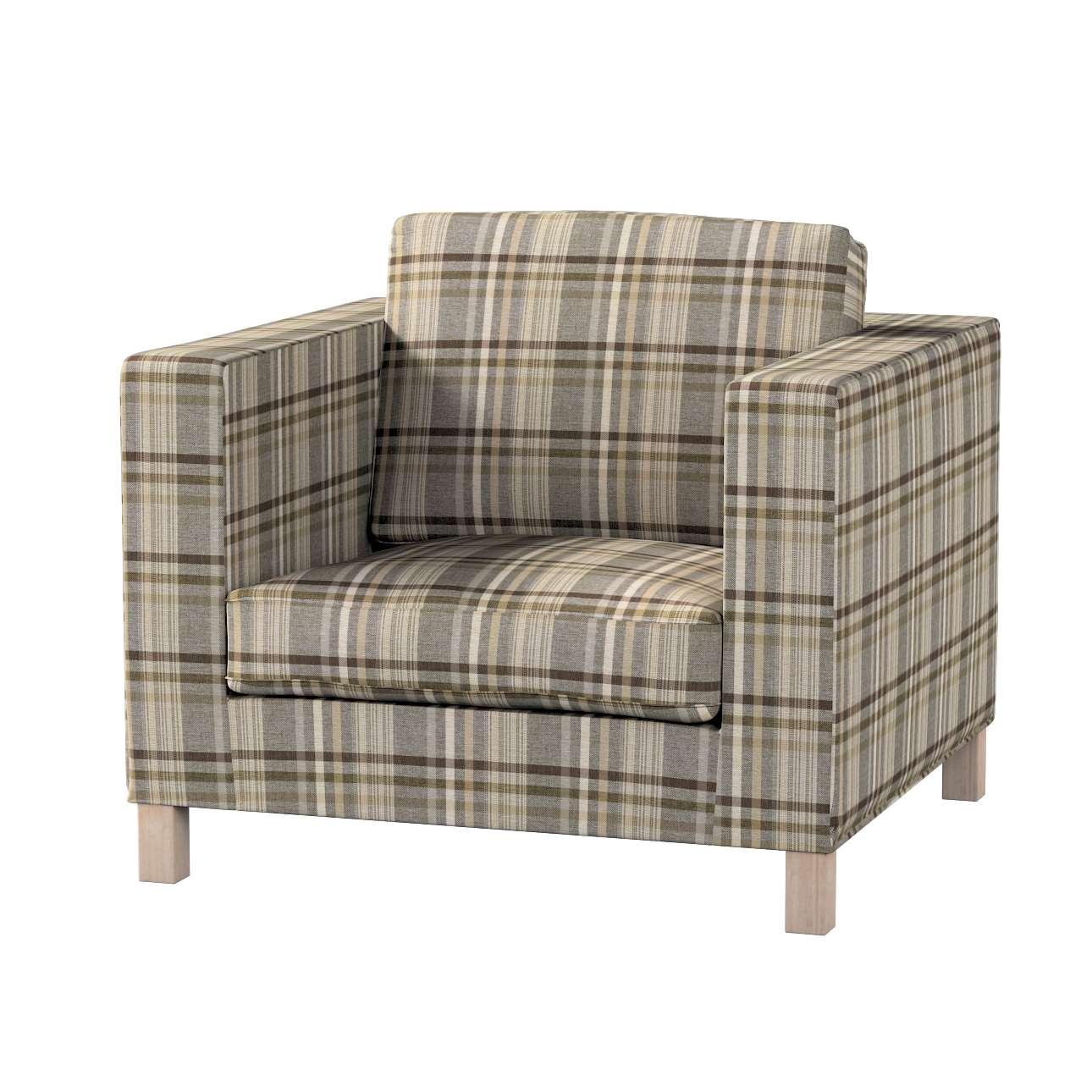 Pokrowiec na fotel Karlanda, krótki w kolekcji Edinburgh, tkanina: 703-17