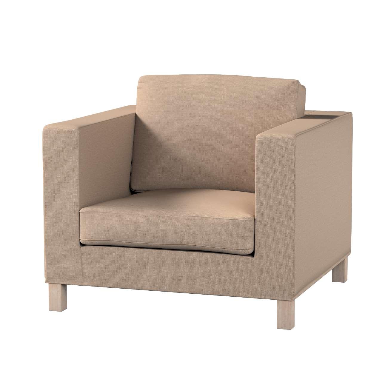 Pokrowiec na fotel Karlanda, krótki w kolekcji Bergen, tkanina: 161-75