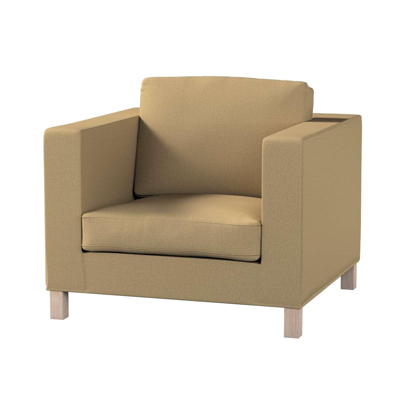 Pokrowiec na fotel Karlanda, krótki w kolekcji Living, tkanina: 161-50
