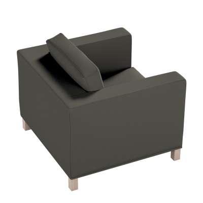Pokrowiec na fotel Karlanda, krótki 161-55 ciemny szary Kolekcja Living