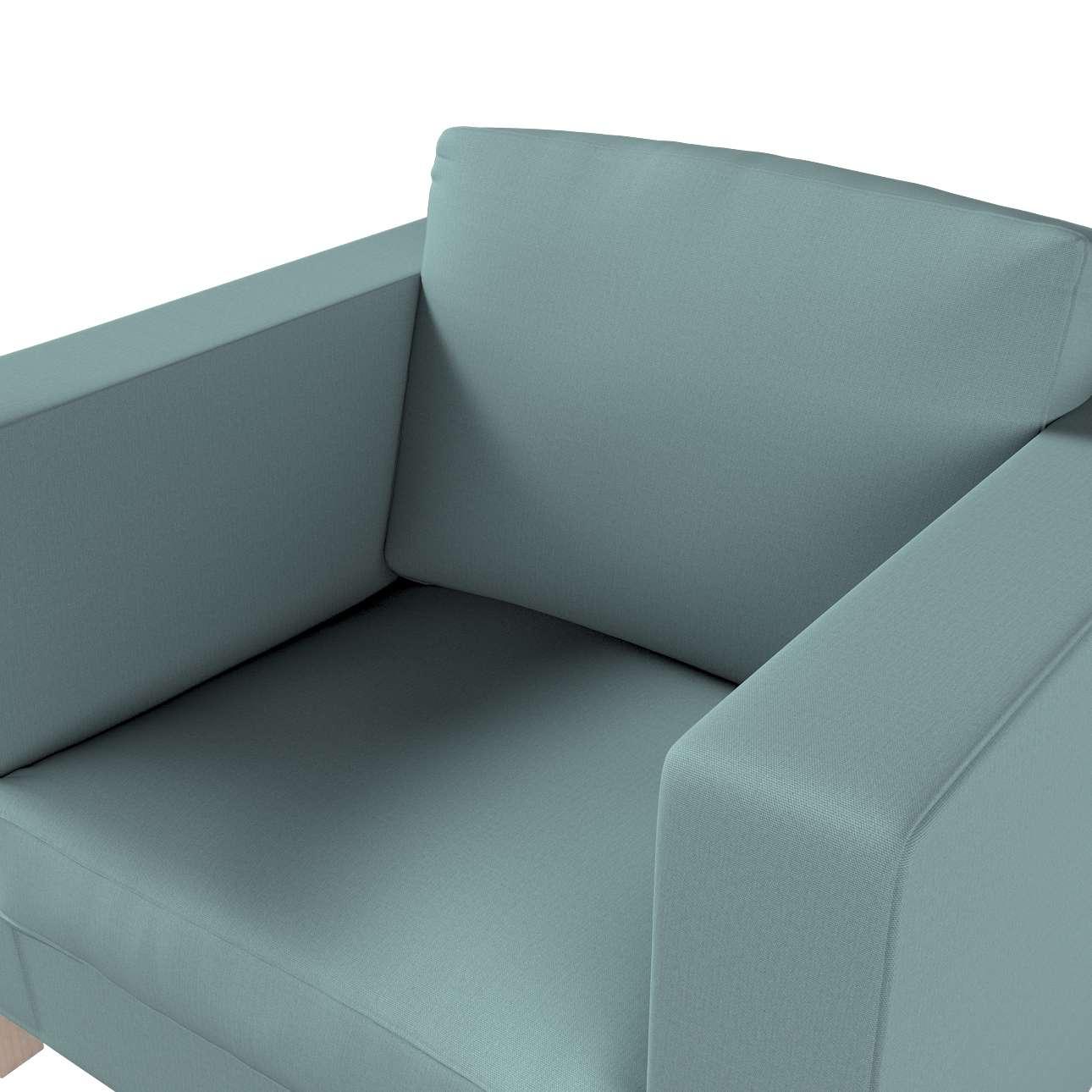 Pokrowiec na fotel Karlanda, krótki w kolekcji Cotton Panama, tkanina: 702-40