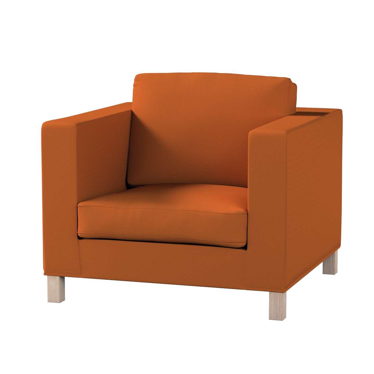 Pokrowiec na fotel Karlanda, krótki w kolekcji Cotton Panama, tkanina: 702-42