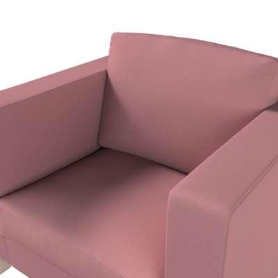 Pokrowiec na fotel Karlanda, krótki w kolekcji Cotton Panama, tkanina: 702-43